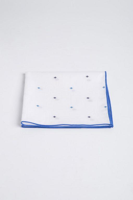 PS140004_WHITE_BLUE CROSS_HANDKERCHIEF_COTTON_KLOFFMAN_A