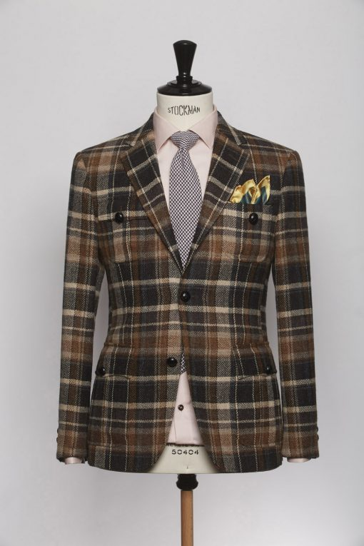BL150004_BROWN_TARTAN CHECK_BLAZER_TWEED_CORNWALL_KLOFFMAN_A