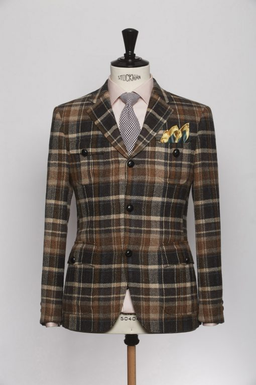 BL150004_BROWN_TARTAN CHECK_BLAZER_TWEED_CORNWALL_KLOFFMAN_B