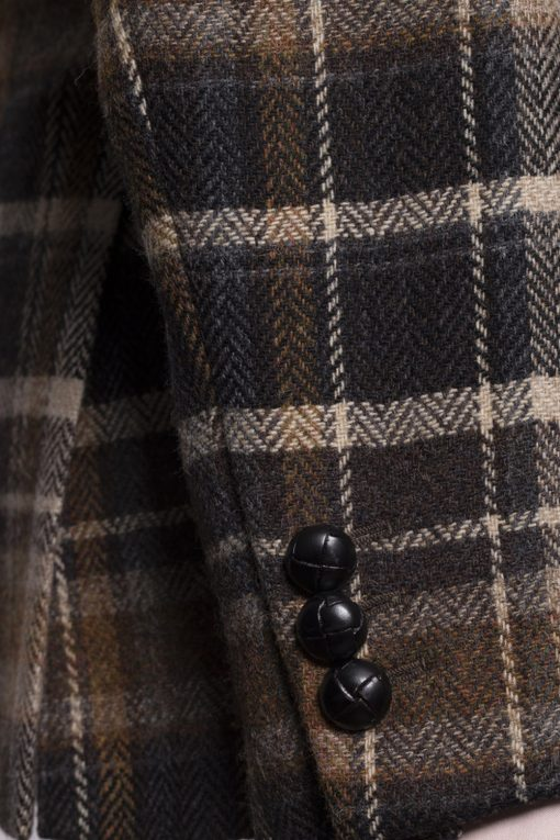 BL150004_BROWN_TARTAN CHECK_BLAZER_TWEED_CORNWALL_KLOFFMAN_F