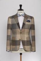 BL150005_BROWN_GUN CLUB CHECK_BLAZER_WOOL_KENT_KLOFFMAN_A