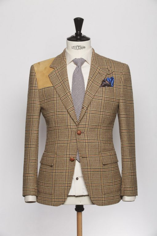 BL150006_YELLOW_GLEN CHECK_BLAZER_TWEED_YORKSHIRE_KLOFFMAN_A