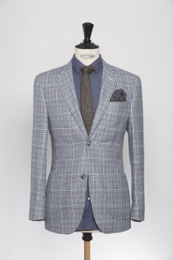 BL150010_BLUE_PRINCE OF WALES CHECK_BLAZER_SILK WOOL_GRANT_KLOFFMAN_A