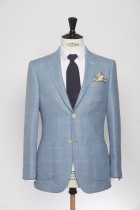 BL150011_LIGHT BLUE_WINDOW PANE CHECK_BLAZER_SILK WOOL_GRANT_KLOFFMAN_A
