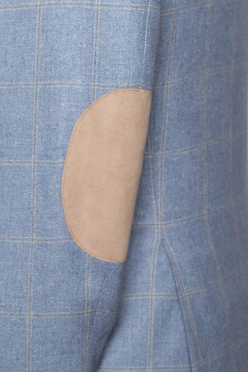 BL150011_LIGHT BLUE_WINDOW PANE CHECK_BLAZER_SILK WOOL_GRANT_KLOFFMAN_F