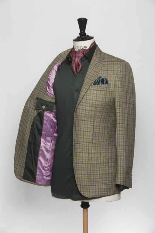 BL150015_GREEN_GUN CLUB CHECK_BLAZER_SILK LINEN WOOL_WYNDHAM_KLOFFMAN_C