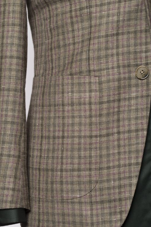 BL150015_GREEN_GUN CLUB CHECK_BLAZER_SILK LINEN WOOL_WYNDHAM_KLOFFMAN_D