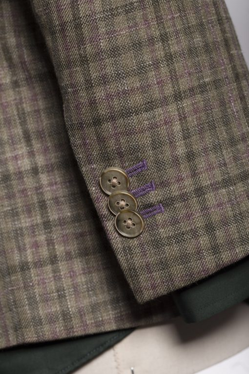 BL150015_GREEN_GUN CLUB CHECK_BLAZER_SILK LINEN WOOL_WYNDHAM_KLOFFMAN_E