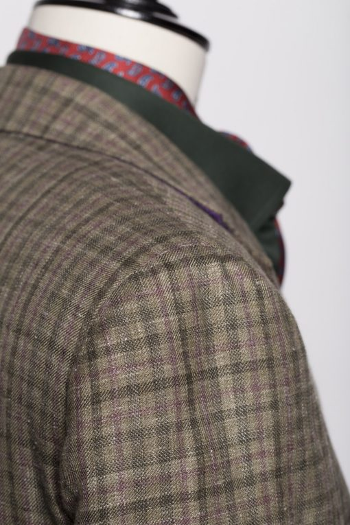 BL150015_GREEN_GUN CLUB CHECK_BLAZER_SILK LINEN WOOL_WYNDHAM_KLOFFMAN_F