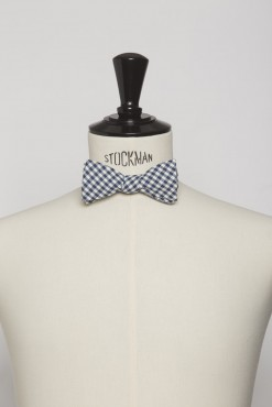 BT140002_BLUE_GINGHAM CHECK_BOWTIE_COTTON_KLOFFMAN_C