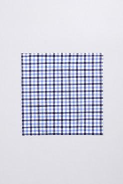 PS140006_BLUE_GINGHAM CHECK_HANDKERCHIEF_COTTON LINEN_KLOFFMAN_B