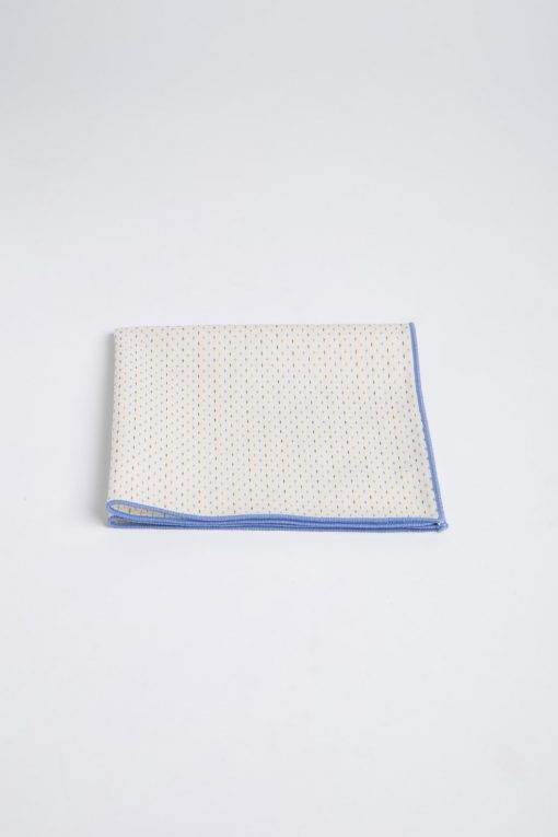 PS150016_BEIGE WITH BLUE BROADER_POCKET SQUARE_COTTON_STITCHES_KLOFFMAN_A