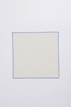 PS150016_BEIGE WITH BLUE BROADER_POCKET SQUARE_COTTON_STITCHES_KLOFFMAN_B