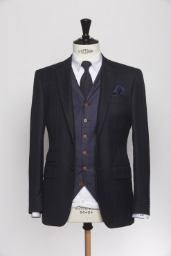 SU140003_NAVY_WINDOW PANE CHECK_SUIT_WOOL_LAW_KLOFFMAN_A_3 PIECES