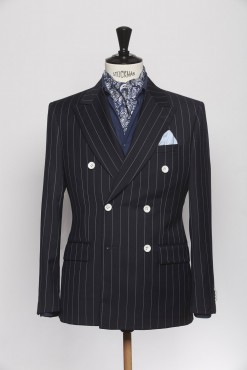 SU140004_NAVY_PENCIL STRIPE_SUIT_WOOL_DOUBLE BREAST_CAINE_KLOFFMAN_A