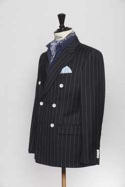 SU140004_NAVY_PENCIL STRIPE_SUIT_WOOL_DOUBLE BREAST_CAINE_KLOFFMAN_B