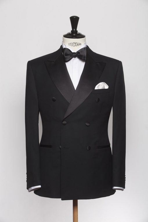 SU150017_BLACK_SOLID_SUIT_WOOL_DINNER_DOUBLE BREAST_KLOFFMAN_A