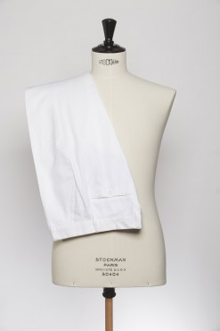 TR150002_WHITE_SOLID_TROUSERS_LINEN_SLIM FIT_KLOFFMAN