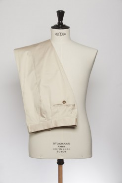 TR150004_BEIGE_SOLID_TROUSERS_COTTON_SLIM FIT_KLOFFMAN