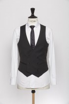 WC140002_BLACK_SOLID_WAISTCOAT_WOOL_CEREMONY_DOUBLE BREAST V_KLOFFMAN_A