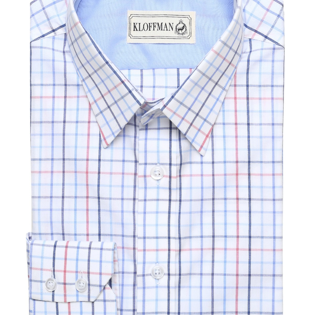 Sh140009 white window pane casual shirt cotton regular fit for Made to measure casual shirts