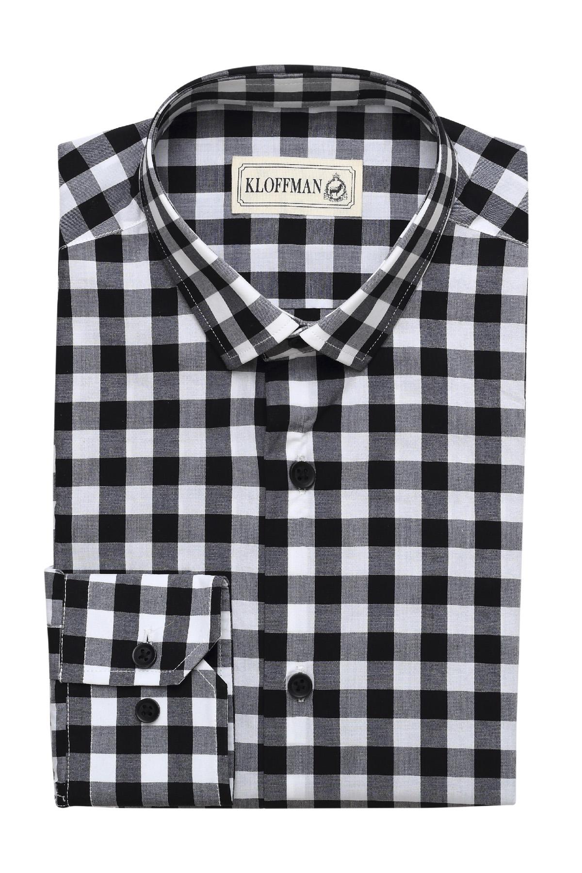 gingham check shirt men 39 s cotton shirt kloffman
