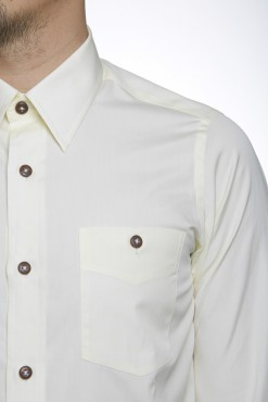 SH150032_LIGHT YELLOW_SOLID_CASUAL SHIRT_COTTON_SLIM FIT_KLOFFMAN_02