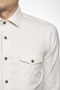 SH150033_BEIGE_SOLID_CASUAL SHIRT_COTTON_SLIM FIT_ELBOW PATCHES_KLOFFMAN_02