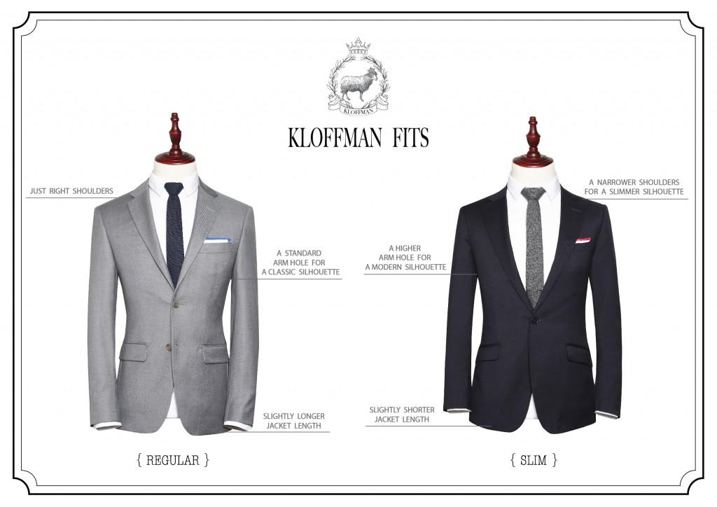 Kloffman_Suit_Regular_&_Slim_Fit_Comparision
