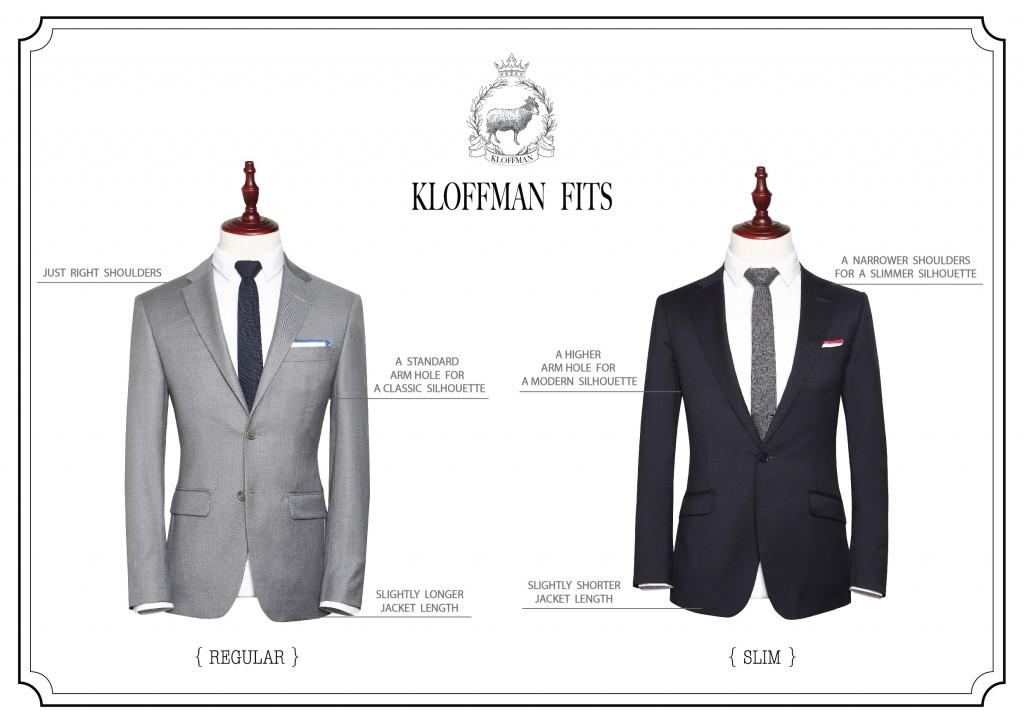 Kloffman_Suit_Regular_&_Slim_Fit_Comparision